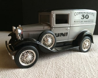 Vintage Ford Model A Collectible Coin Bank Liberty Classics Limited Edition Commemorating 30 Years of Modular Harvesting 1 of 2500