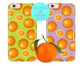Orange iPhone 6 case Citrus iPhone 6 Plus Case Fruit iPhone 6s Case Orange Samsung Galaxy s7 Case Tangerine Pattern Samsung Galaxy s6 Edge