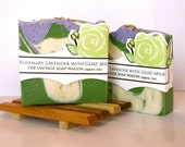 Rosemary Lavender Goat Milk Soap - made with all Essential Oils