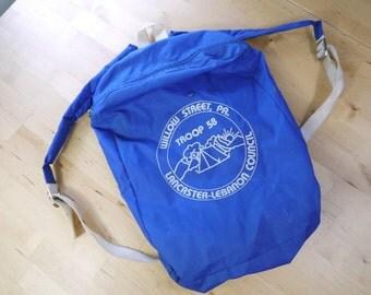 Vintage Vintage Boy Scouts of America Willow Street Troop 58 Lancaster PA Blue Backpack