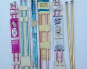 Vintage Lot of Knitting Needles 6 Pairs Susan Bates Sears Hero Grants Silvalume Aluminum
