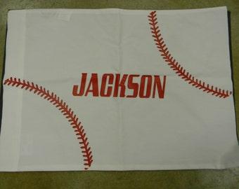 Personalize Baseball Pillowcase