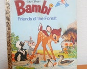 "Little Golden Book, ""Walt Disney's Bambi, Friends of the Forest"" Children's Book"