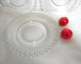 Six Vintage Candlewick 8 inch Salad Plates,  Imperial Glass Plates