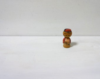 1.1inch Vintage Japanese Miniature Wood KOKESHI Doll
