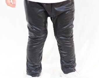 Baby Faux Leather Leggings, Baby Clothing, Baby Pants, Leather Leggings, Modern Baby Legging, Black Baby Legging, Boy Legging, Capri Legging