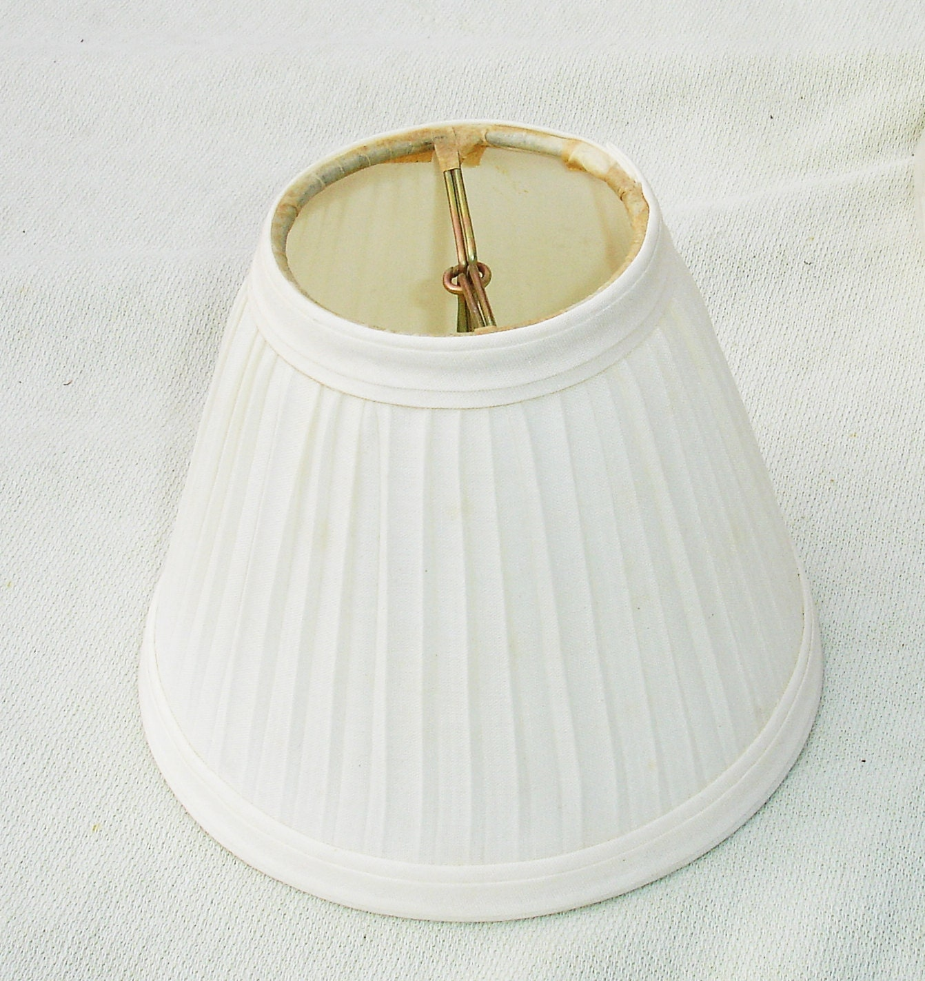 small white ruffled lamp shade 4 inch by 5 inch fits on. Black Bedroom Furniture Sets. Home Design Ideas