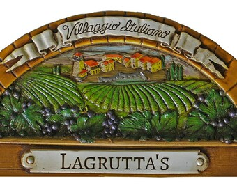 Italian Village Personalized Wall Plaque
