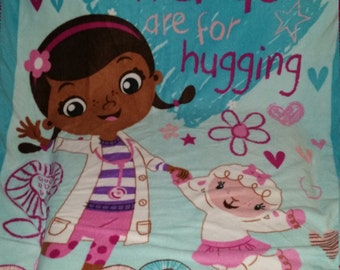 Doc McStuffins Crocheted Fleece Blanket
