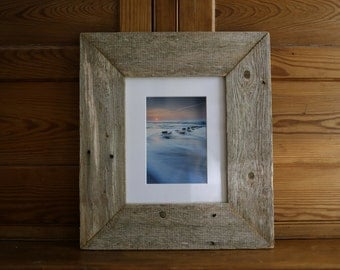 """Shifting Sands: 5x7"""" framed print in reclaimed wood"""