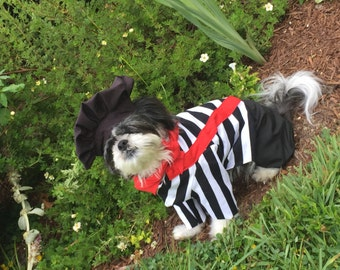 Custom made French Mime dog costume for dogs uo to 20 pounds