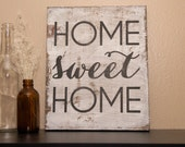 """DIY STENCIL for Wood Sign   """"Home Sweet Home"""""""