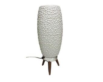 Vintage Beehive Lamp, Mid Century Danish Modern Tripod Bubble Cone Lamp