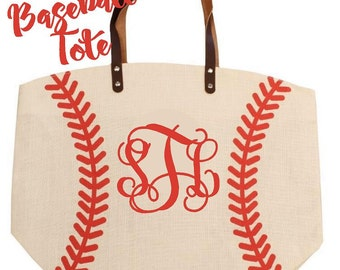 Monogrammed Baseball Tote...choose embroidery or heat transfer!