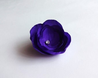 Purple Silk Flower Embellishment