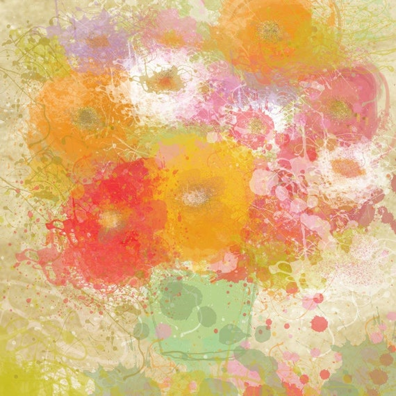 """Bunch of flowers by Irena Orlov. Giclee 20 x 20"""""""