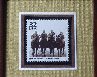 The Four Horsemen of Notre Dame-  Framed Commemorative Stamp - No. 3184L