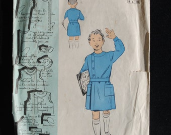 Smock pattern etsy for Patron tablier vintage