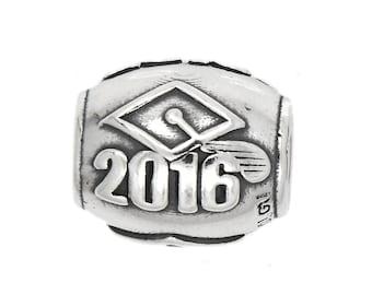 Sterling Silver European Style 2016 Gradation Bead Charm