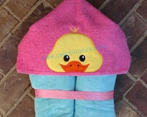 Chick Easter Chick Peeker Hooded Towel In the Hoop applique  digital design 4x4, 5x7, 6x10 hoops - Instant Download