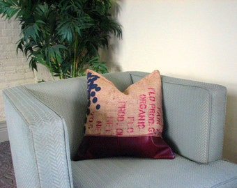 "SALE: Garden Variety ""Blueberries"" Throw Pillow"