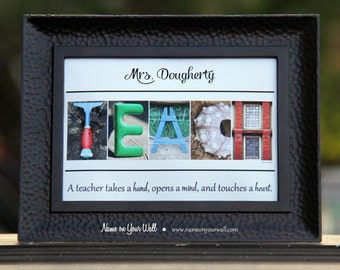 5x7 Personalized gift for TEACHER in color - Unframed