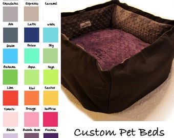 Travel Pet Bed, CUSTOM 32 Color Choice, 20 In Square Large, Slip-proof Base, Dog, Cat, Collapsible, Washable, Couture, Artistic