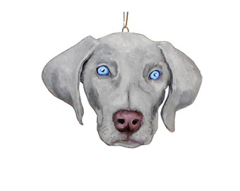 Weimaraner Christmas Dog Portrait  Ornament