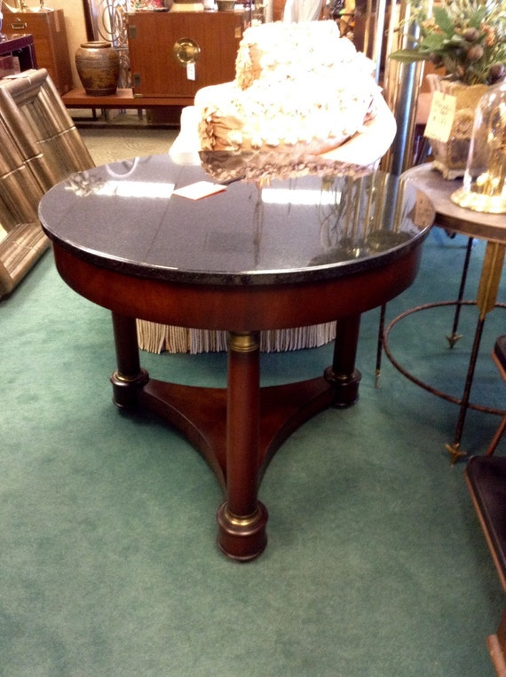 Sale Priced Baker Furniture Marble Occasional Table San