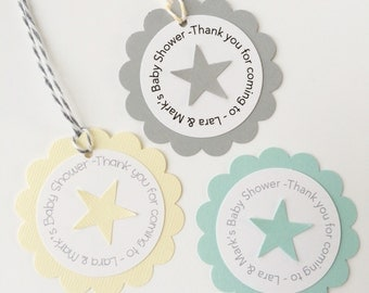 Personalized Star Gift Tags - Baby Shower, Birthday
