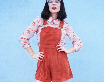Mod Dolly/ Polly Dungarees/ Burnt Orange/ Corduroy