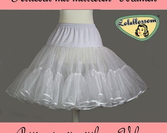 50's vintage white petticoat double layer with full volume reserved