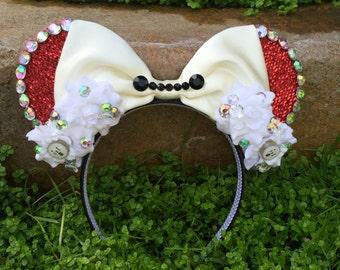 Pre-order Baymax Big Hero 6 inspired Mouse Ears Flower Crown Headband Marvel