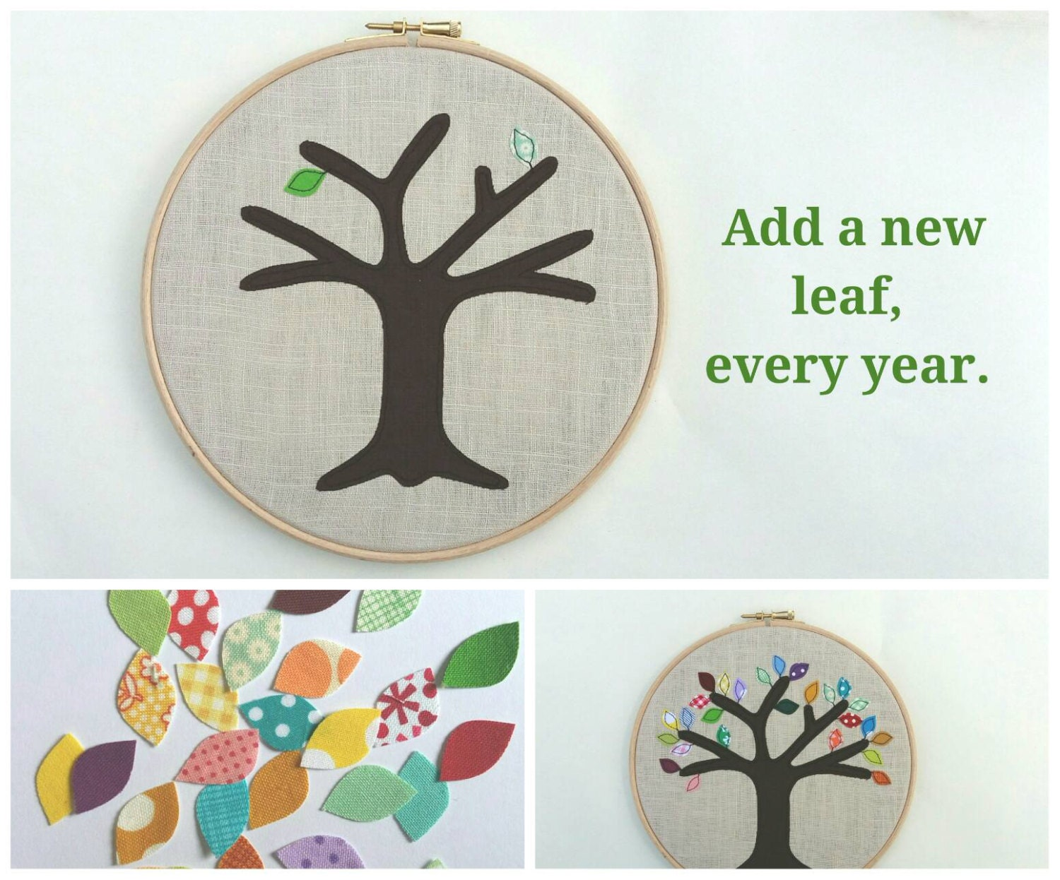 Wedding Anniversery Gift: Cotton Anniversary Gift Add A New Leaf Each Year Of