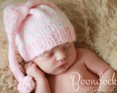 Pink baby kids winter girl beanie photo prop