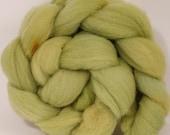 Hand dyed British Southdown  top - Himalayan Rhubarb - 4.3 oz.