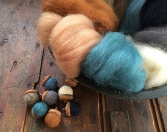 NEW Sand and Sea Sampler-Needle Felting Wool - Wet Felting Wool-Nuno Felting-Spinning
