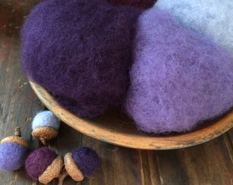 NEW Needle Felting Wool-Violets Are Blue Wool Sampler-Wet Felting Wool