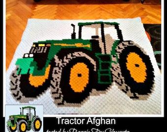 Crochet Tractor Etsy