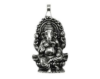 Ganesha Pendant - Pewter, Lord ganesh, Ganapati, Vinayaka, Deity pendant, God of beginnings