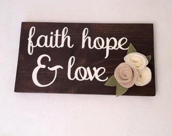 Faith hope love wooden block decor by coast2coastcrafts on for Faith decor