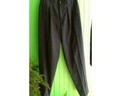 Vintage Yumiko Tamuri JUN Japan Pleated Wool Pants 1980s Men's Menswear