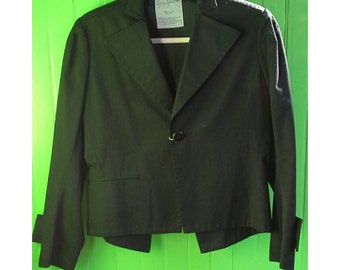Vintage Yohji Yamamoto Cropped Jacket Black Blazer Japan 1990s New Wave