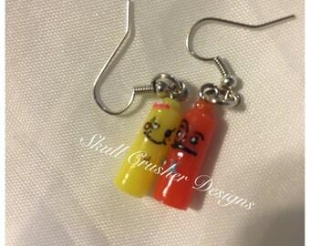 Ketchup & Mustard Kawaii Earrings
