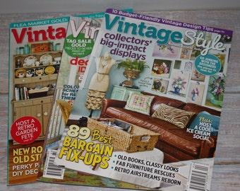 Vintage Style magazines- Free Shipping
