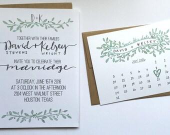 Wedding Invitation + Save the Date // Custom