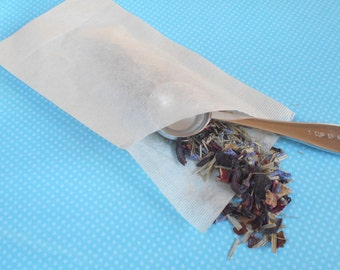 Disposable Empty Tea Bags, Tea Brewing, Travel Tea Filters, Natural Tea Filters, Eco Tea Bags, Unbleached, Disposable Tea Bags
