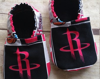 Houston rockets Inspired Cloth Baby Booties