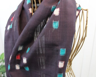 Vintage Mens Scarf Dark Purple/ Aubergine Dress Scarf