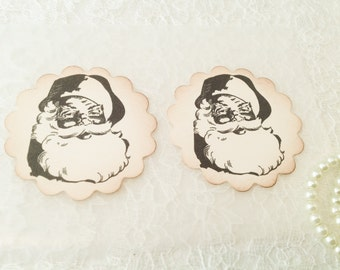 Santa Claus Sticker-Santa Stickers and Favors-Seasonal Stickers-Holiday Envelope Seals-Set of 12